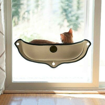 "K&H Manufacturing EZ Mount Window Bed Kitty Sill (27"" x 11"") Tan"