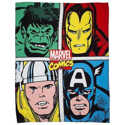 Official Marvel Comics Strike Fleece Blanket - Kids Bedroom Official Free P+P