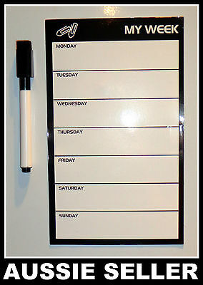 1 X Fridge Magnetic Weekly planner To-Do List free whiteboard marker