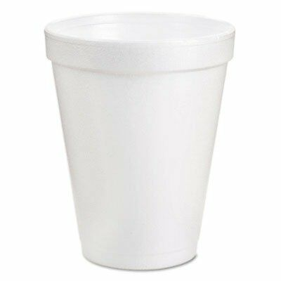 Dart Drinking Cup 8 oz. White Styrofoam, Case of 1000 *NEW* *SUPER SAVER*