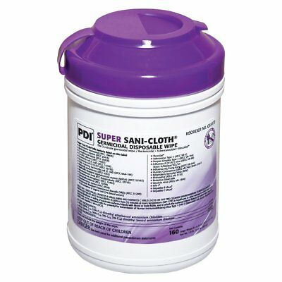 NEW! Super Sani-Cloth Hard Surface Disinfectant Wipes, Pull-Up, 6x7, 160/PK