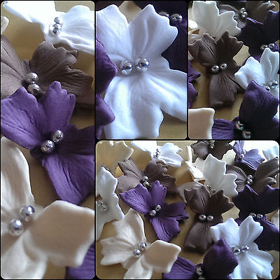 18 Edible sugar paste butterflies cake cupcake toppers decorations