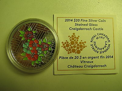 2014 Proof $20 Stained Glass #1-Craigdarroch Castle Canada COIN&COA ONLY twenty