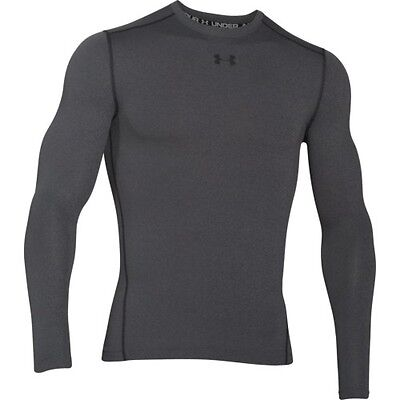 Under Armour Cg Compression Crew Mens Base Layer Top - Carbon Heather All Sizes