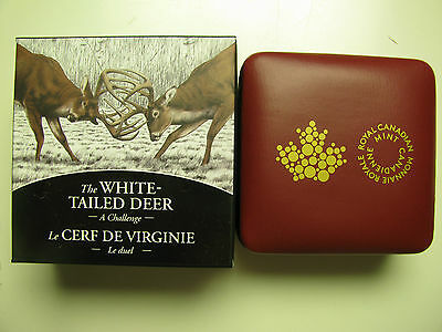 2014 Proof $20 White-Tailed Deer #2-Challenge Canada .9999 silver twenty