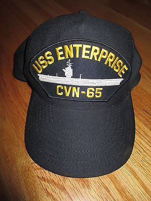 USS ENTERPRISE CVN-65 Aircraft Carrier U.S. Navy (Adjustable Snap Back) Cap