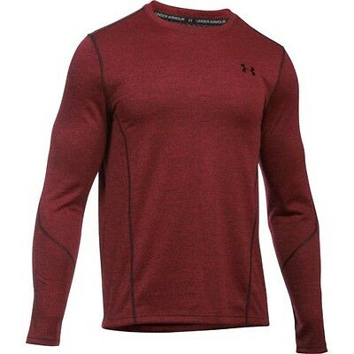 Under Armour Coldgear Infrared Grid Ls Fitted Hommes Seconde Peau - Red