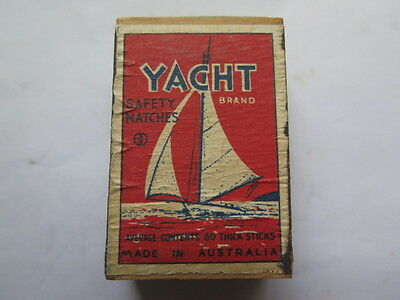 YACHT BOX of SAFETY MATCHES in UNUSED CONDITION AUSTRALIAN c1940s