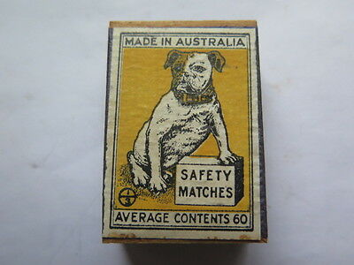 BULLDOG BOX of SAFETY MATCHES in UNUSED CONDITION AUSTRALIAN c1940s