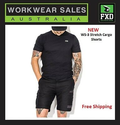 NEW FXD Stretch Cargo Shorts WS-3 WS3. Free Shipping