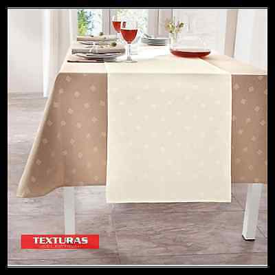 TEXTURAS SELECTION Mantel Antimanchas LONETA RESINADA Color Liso IMPERMEABLE Ta