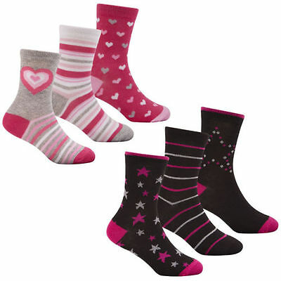 Girls 43B469 3 Pack Cotton Rich Patterned Socks By BAUM - Retail Price: £1.99