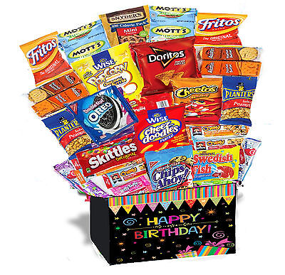 Birthday Gift Basket Box 30 PIECES Snack Care Package Snack Gift Party