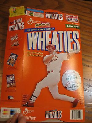 Wheaties Mark McGwire - Home Run Hero - Limited Edition Empty Cereal Box 1999