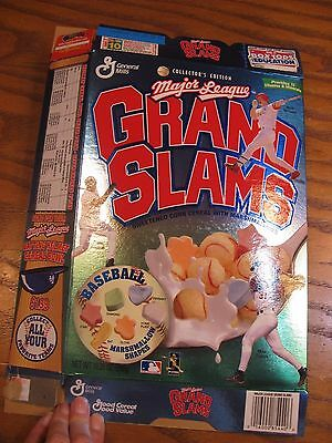 General Mills Major League Grand Slams Cereal Collector's Edition Empty Box 1998