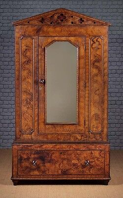 Antique 19th.c. Welsh Painted Or 'Scumbled' Pine Wardrobe c.1860
