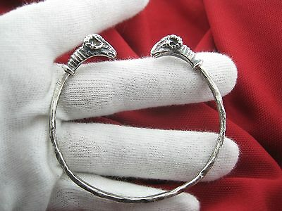 RR WOW Very rare old Sterling Silver beautiful bracelet sheep 19th century