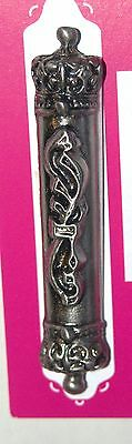 Judaica Car Mezuzah Case Travel Protection Charm Pewter Shadai 4 cm