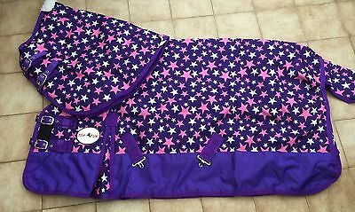 "PURPLE STAR 600D RIPSTOP HEAVYWEIGHT 350GM TURNOUT RUG  PLUS  NECK 4'9"" to 7'0"""