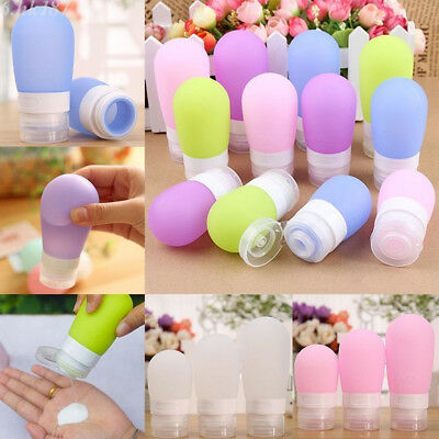 Silicone Travel Portable Bottles Shampoo Cosmetic Empty Lotion Mini Container