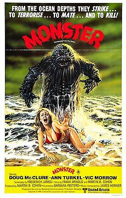 Humanoids from the Deep Movie POSTER (1980) Horror/Sci-Fi