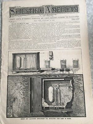 Scientific American January 1886 Mining Inventions RARE