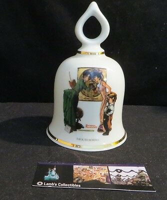 Norman Rockwell ceramic bell Back to School Danbury Mint 1979 Limited Edition