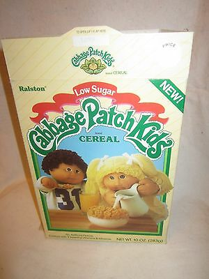 1980's Ralston Purina Cabbage Patch Kids Cereal Cardboard Box Empty