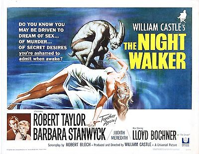 The Night Walker Movie POSTER (1964) Thriller/Mystery