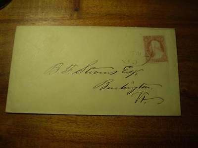 (X179) EARLY USA COVER 3c PERF STAMP