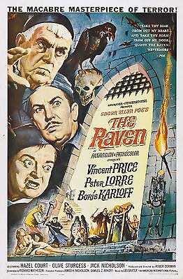 The Raven Movie POSTER (1963) Horror/Comedy