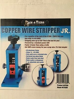 Used Rack-A-Tiers Copper Wire Stripper Jr. In Original Box