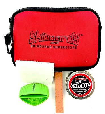 Skiboards.com Quick Mini Tune Kit with Wax, Edger and Detune Stone