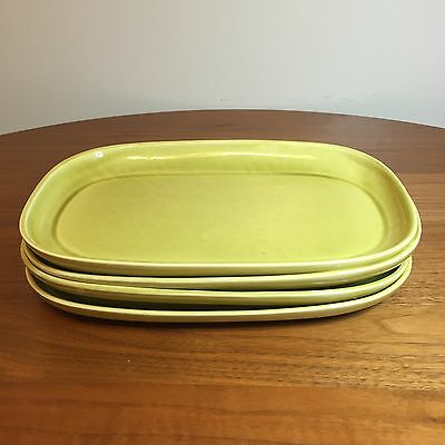 Russel Wright Steubenville American Modern Chartreuse Serving Platter Set of 4
