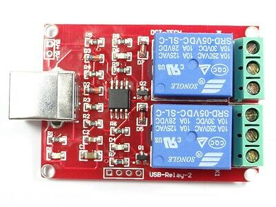 Board 5V USB Relay 2 Channel Programmable Computer Control For Smart Home
