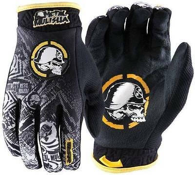 MSR Metal Mulisha black and yellow MX gloves. New in packaging. Christmas gift.
