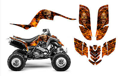 Raptor 660 graphics Yamaha 660R ATV deco sticker kit #9500N Zombie Skull