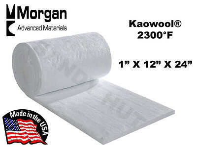"Ceramic Fiber Blanket Kaowool RT 2300°F  8# 1""x12""x24"" Morgan Thermal Ceramics"