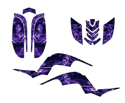 Raptor 660 graphics Yamaha 660R ATV deco sticker kit #9700 Purple Zombie Girl
