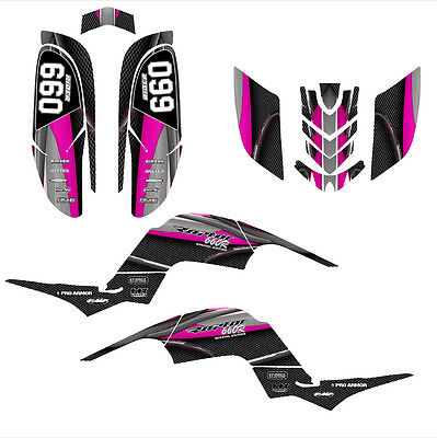 Raptor 660 graphics Yamaha 660R custom deco sticker kit #5600 Hot Pink