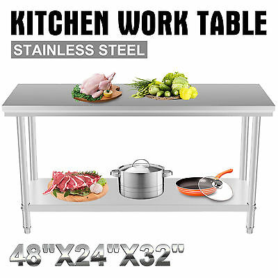 2X4Ft Kitchen Work Prep Table Prep Sink Commercial Work Meet Your Needs Great