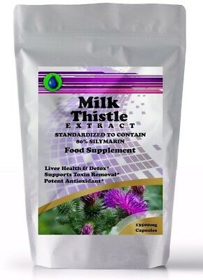 MILK THISTLE SEED EXTRACT CAPSULES 13500mg HIGH STRENGTH 80% SILYMARIN 432mg