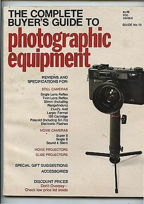 Old 1972 Complete Buyer's Guide Photographic Equipment Magazine