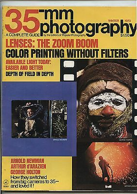 Old Vintage Winter 1973 35mm Photography Guide Magazine