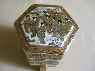 Japanese Satsuma Box Meiji Marked