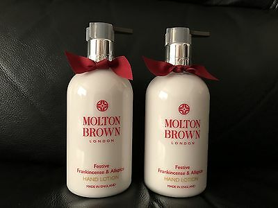 Molton Brown 2 x 300ml Frankincense & Allspice Hand Lotion BRAND NEW