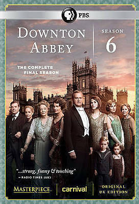 Downton Abbey: The Complete Sixth Season 6 (DVD, 2016) Brand New & Sealed!!