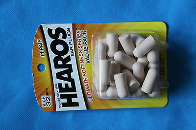Hearos Ultimate Softness Series Ear Plugs, NRR 32dB, Value Pack, 14 Pr, MPN 2225