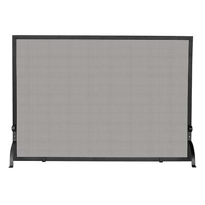 UniFlame Small Single Panel Fireplace Screen Steel Construction With Heavy Mesh