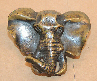1990 Bronze Elephant by Denis Mathews cast in Kenya #77 (11238)